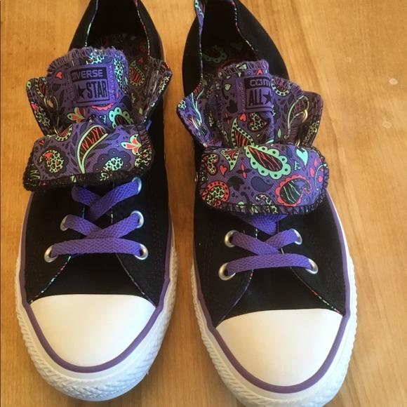 1f4329a4986e Converse Shoes - Converse Double Tongue OX Black Sneakers